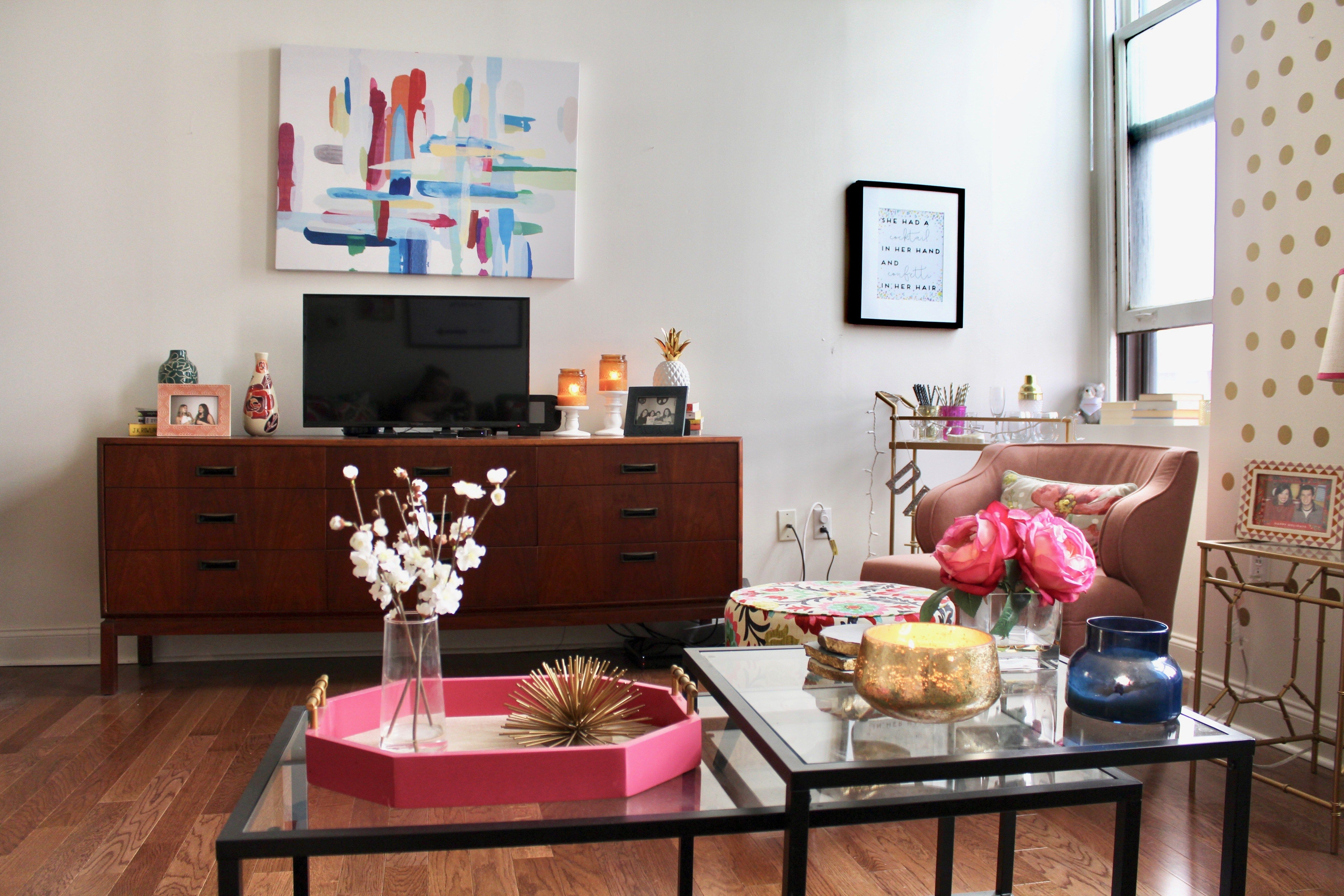 Philadelphia Apartment Tour Living Room Mid Century Modern