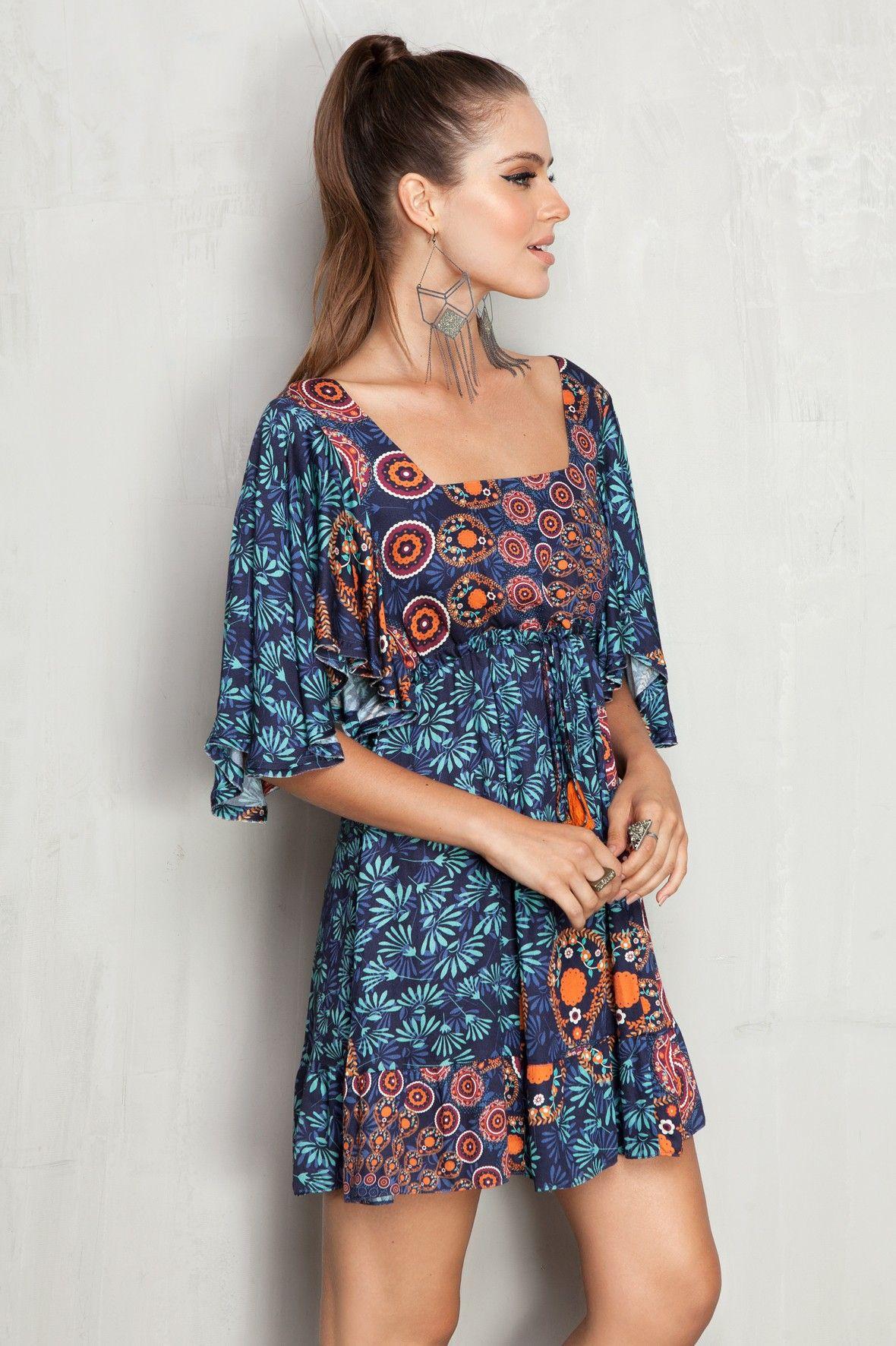 ec088d4af vestido amplo estampado mandala