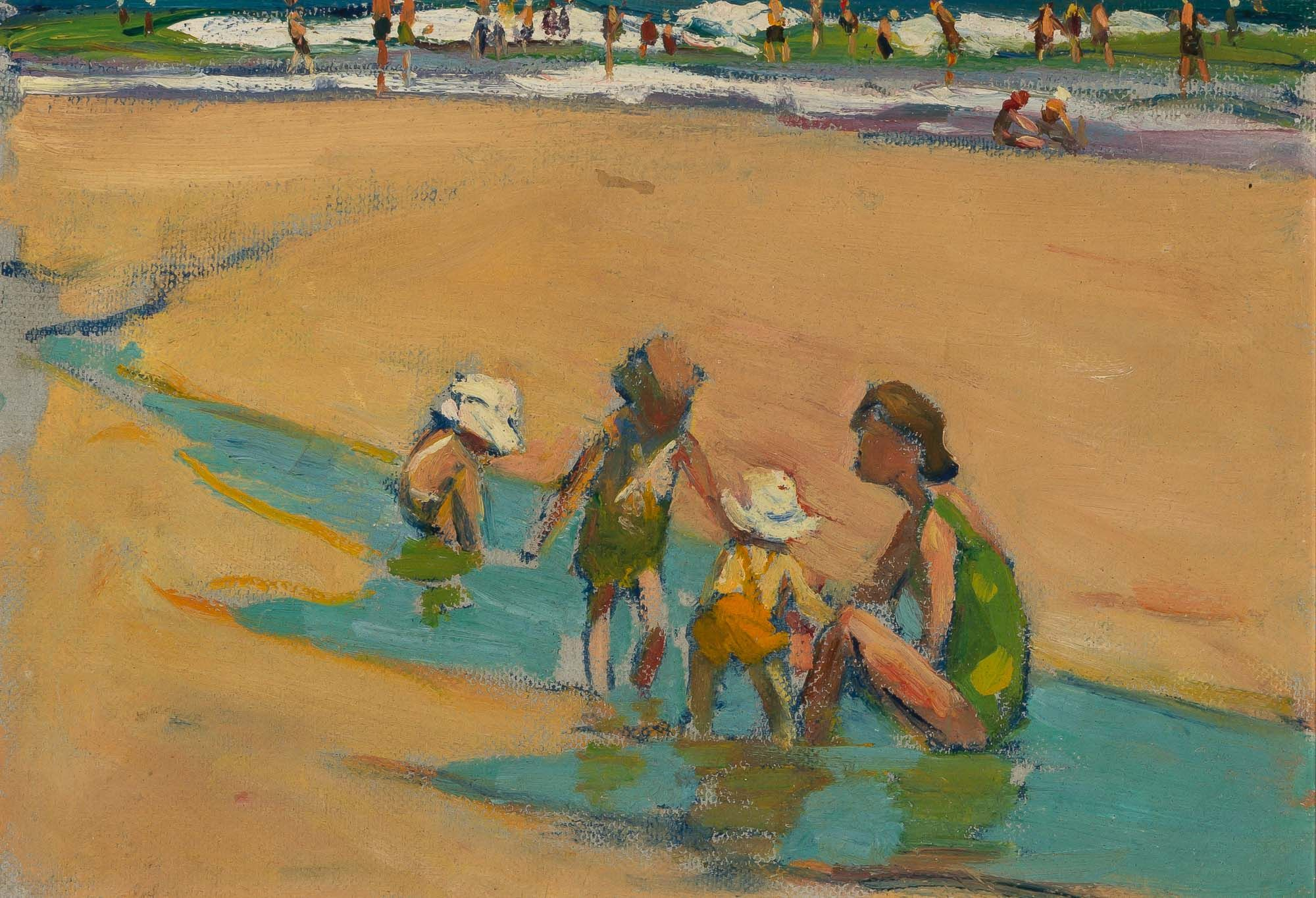 Lot 1045 Gertrude Horsford Fiske American 1878 1961 Summer Day At The Beach In 2020 American Impressionism Cleveland Museum Of Art Gertrudes