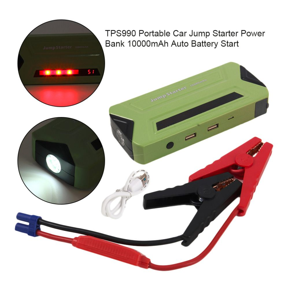 Catuo 10000mah Car Jump Starter Power Bank Green Auto Battery