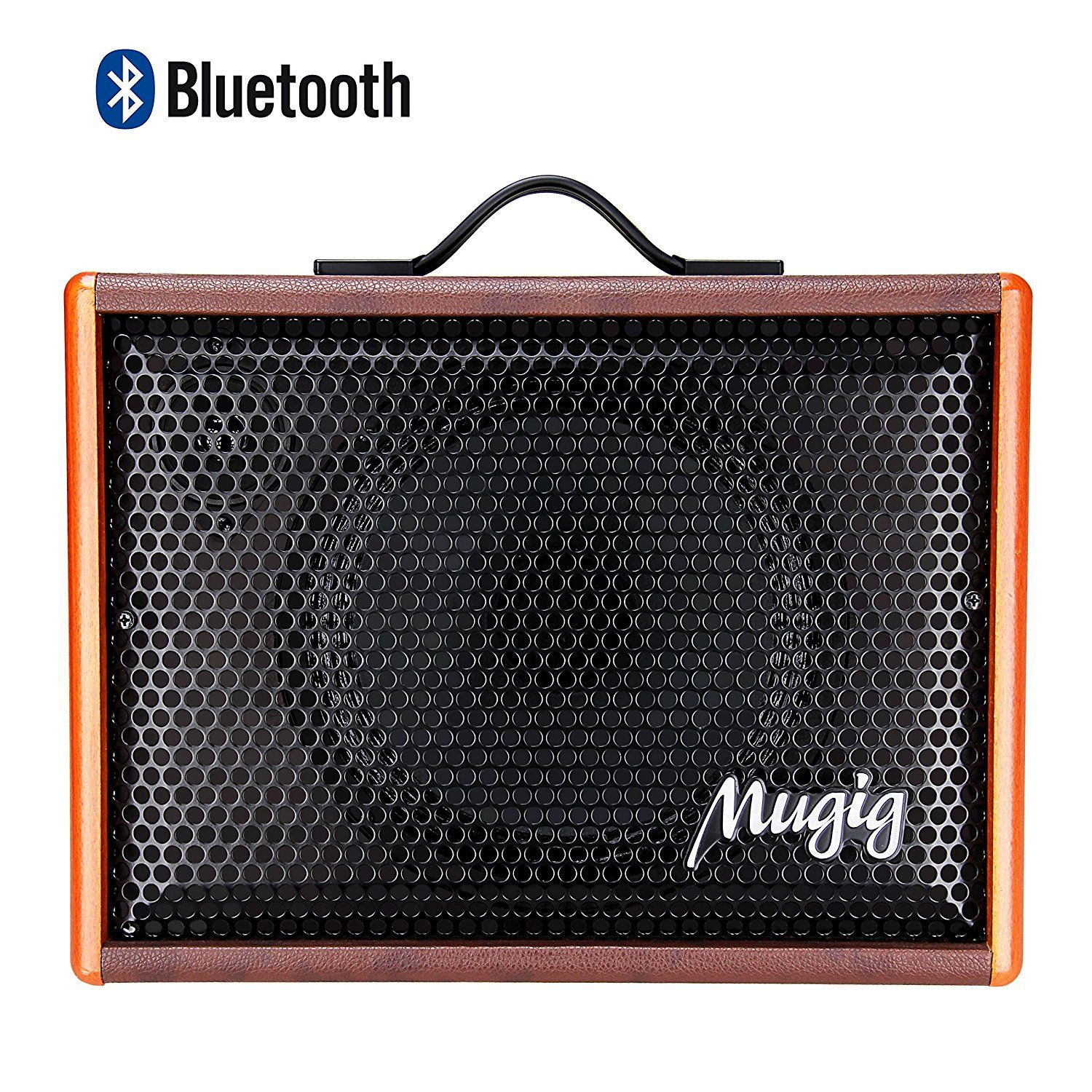 Mugig Guitar Amplifier For Acoustic Guitar Portable Chargeable Vocal Amp 25w Guitar Speaker For Karaoke Str Acoustic Guitar Amp Best Acoustic Guitar Guitar Amp