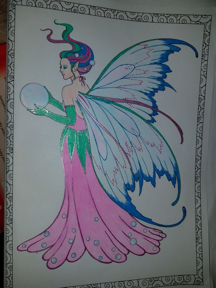 Fairy coloring by me Toni