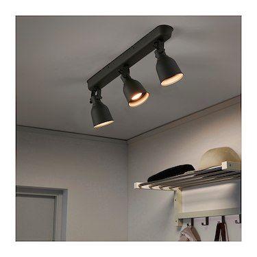 Hektar Dark Grey Ceiling Track 3 Spots Ikea Track Lighting Bedroom Track Lighting Fixtures Modern Track Lighting