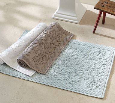 Isaac Floral Sculpted Bath Mat With Images Bath Rug Luxury Bath Rugs Cozy Rugs