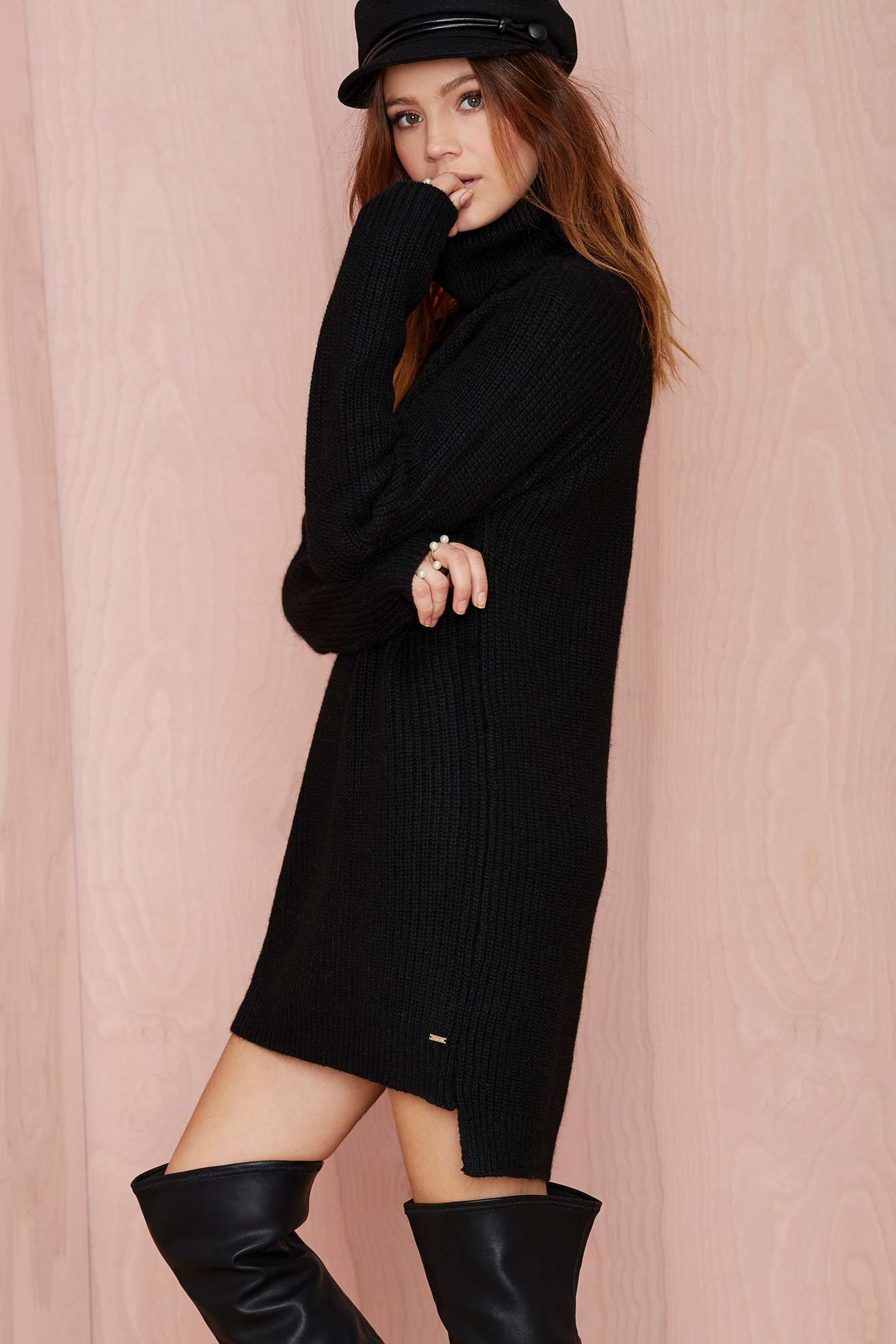 Line & Dot Christensen Oversized Sweater | Shop Dresses at Nasty ...