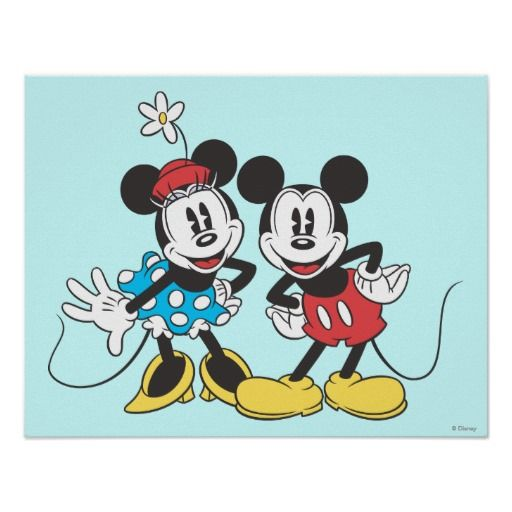 Classic Mickey Mouse & Minnie Poster
