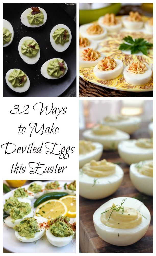 32 Ways to Make Deviled Eggs This Easter   Carrie's Experimental Kitchen #eggs #easter #appetizer