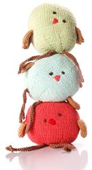 Fair Trade Knitted Tweetie Birds by Pebble