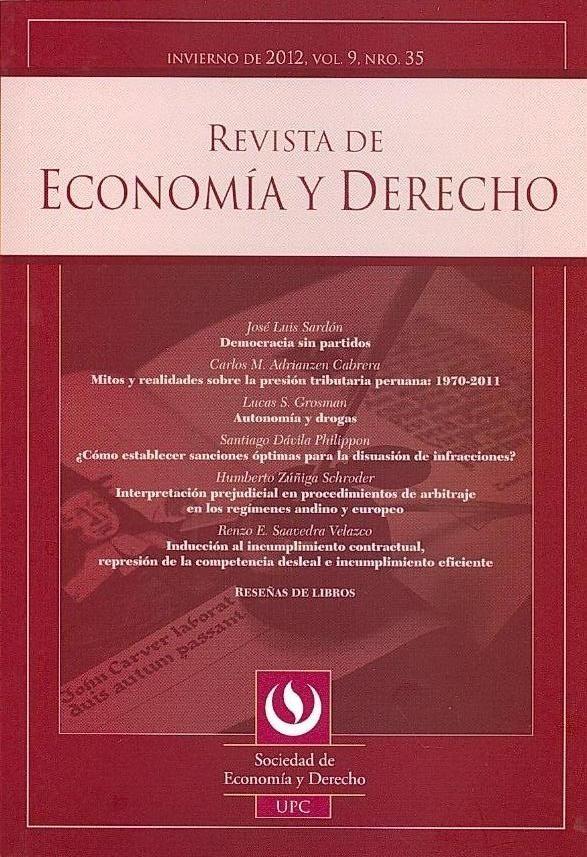 Economía Revista De Economía Y Derecho N 35 Invierno 2012 Lockscreen Lockscreen Screenshot