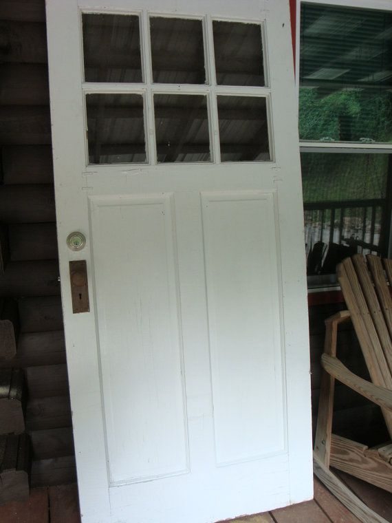 Vintage Antique 1920s Entry Door Arts And Craft Entry Solid Wood
