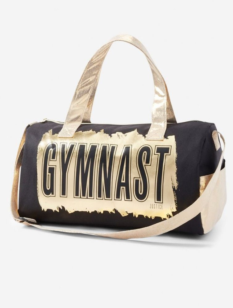 9dfaea5beefc Justice Girl s  GYMNAST  Luxe Metallic Sports Duffel Bag NWT  Justice   duffelbag