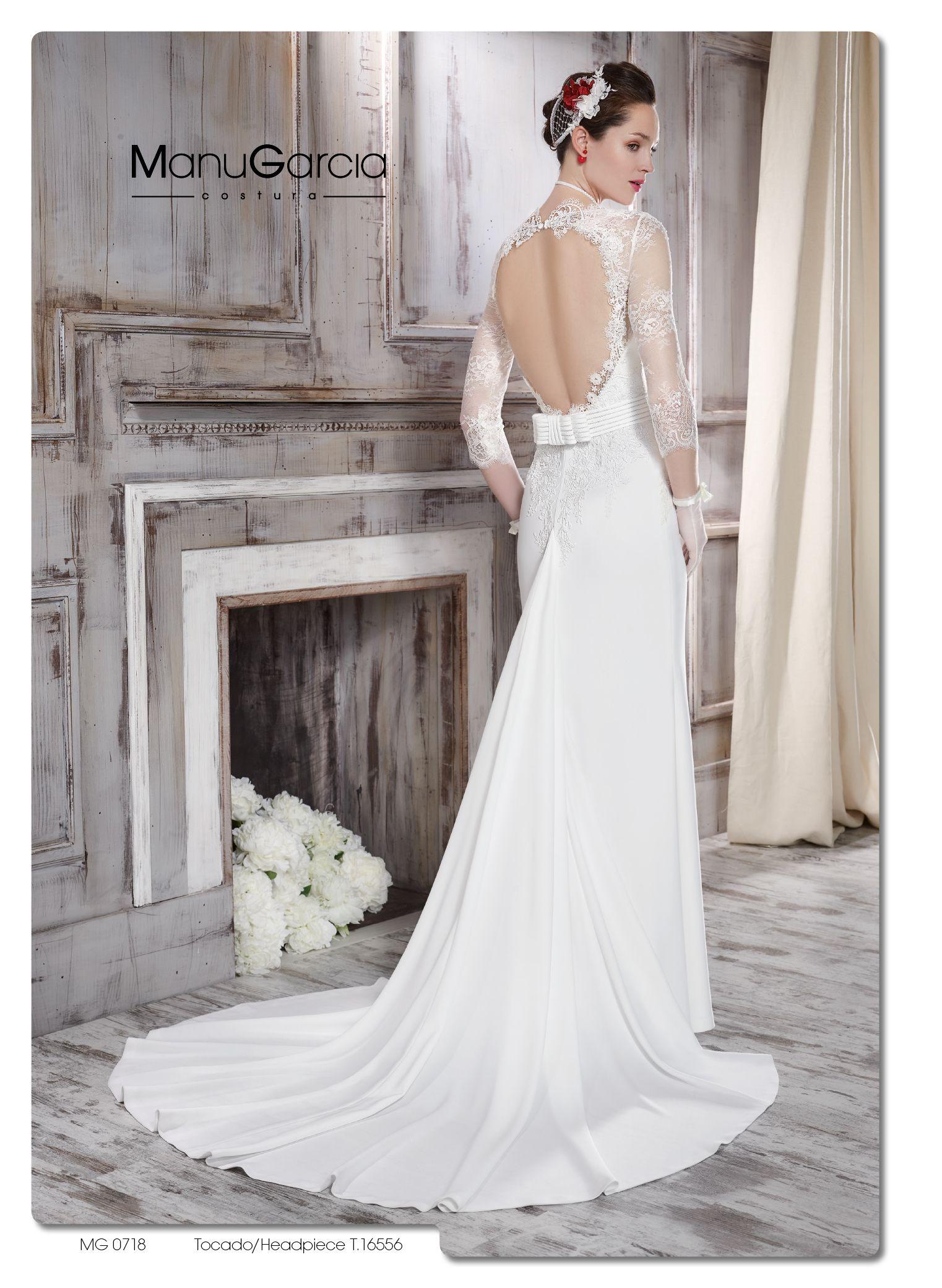 #Novia #weddingdress #Volantes #vestidodenovia #ManuGarcía #colección2016 #escotesespalda