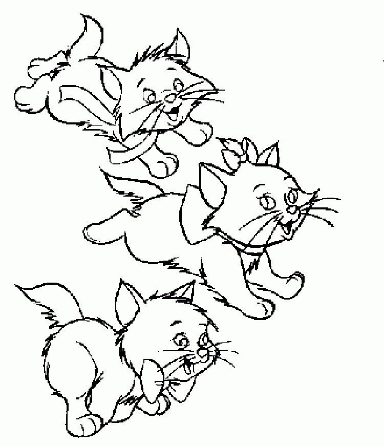 Cute Kitten Coloring Pages To Print In 2020 Cartoon Coloring