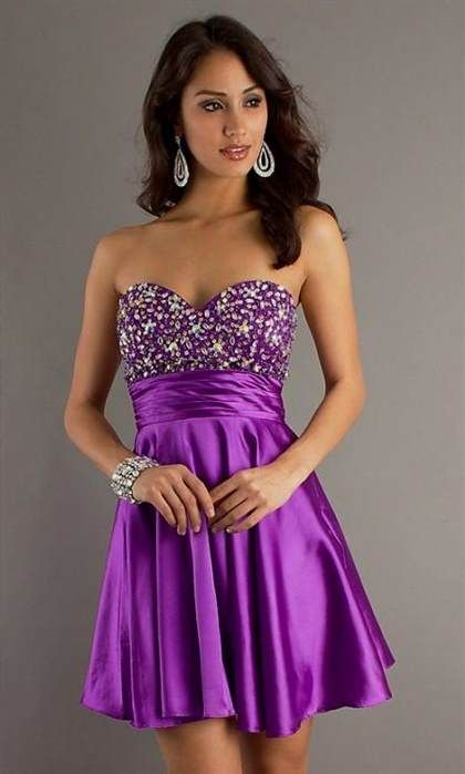 c38e7873b476 Awesome purple strapless short prom dress 2017-2018 Check more at ...
