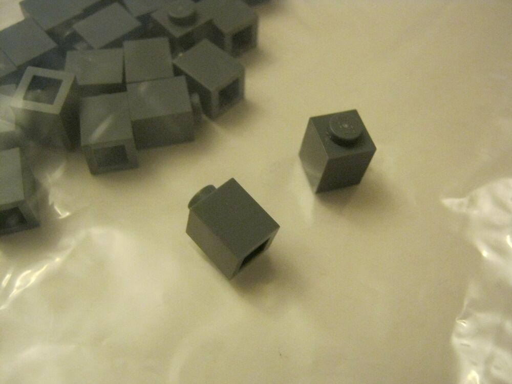 Set of 6 NEW  1x1 Technic Bricks with Hole LIGHT GRAY LEGO LEGOS