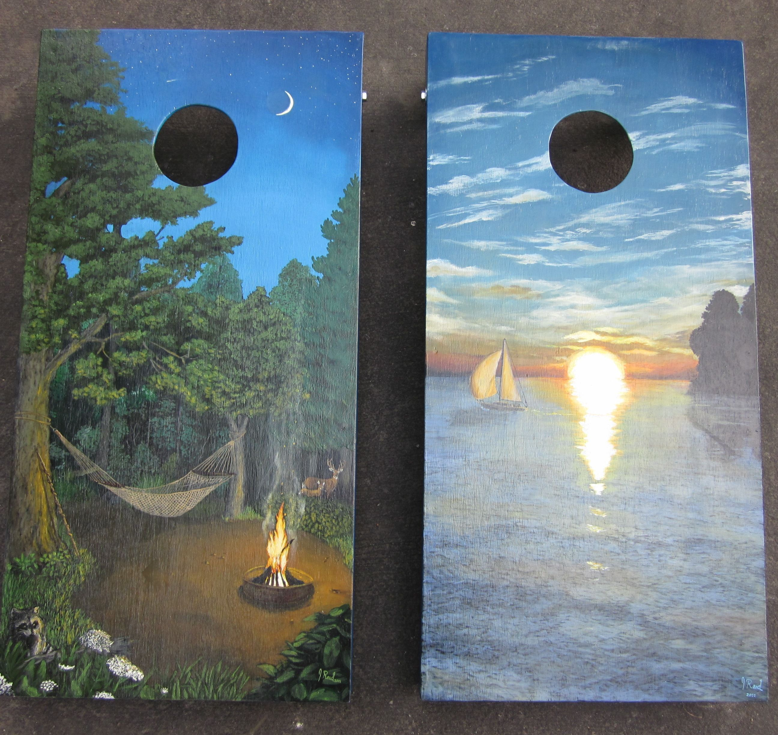 Looking for a custom set of corn hole boards featuring