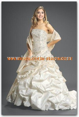 2013 Elegante luxuriöse Brautkleider aus Satin Ballkleid mit ...