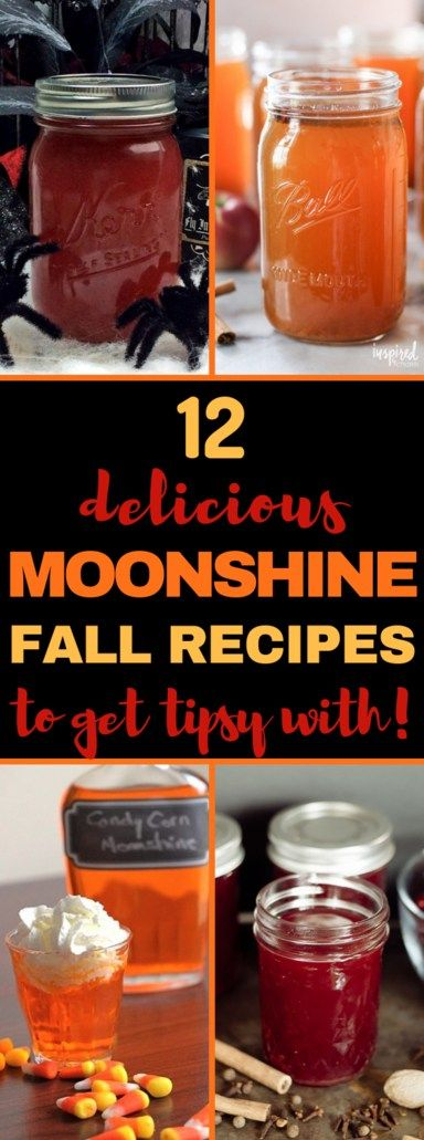 FALL MOONSHINE RECIPES THAT'LL DEFINITELY GET YOU TIPSY #alcoholicpartydrinks