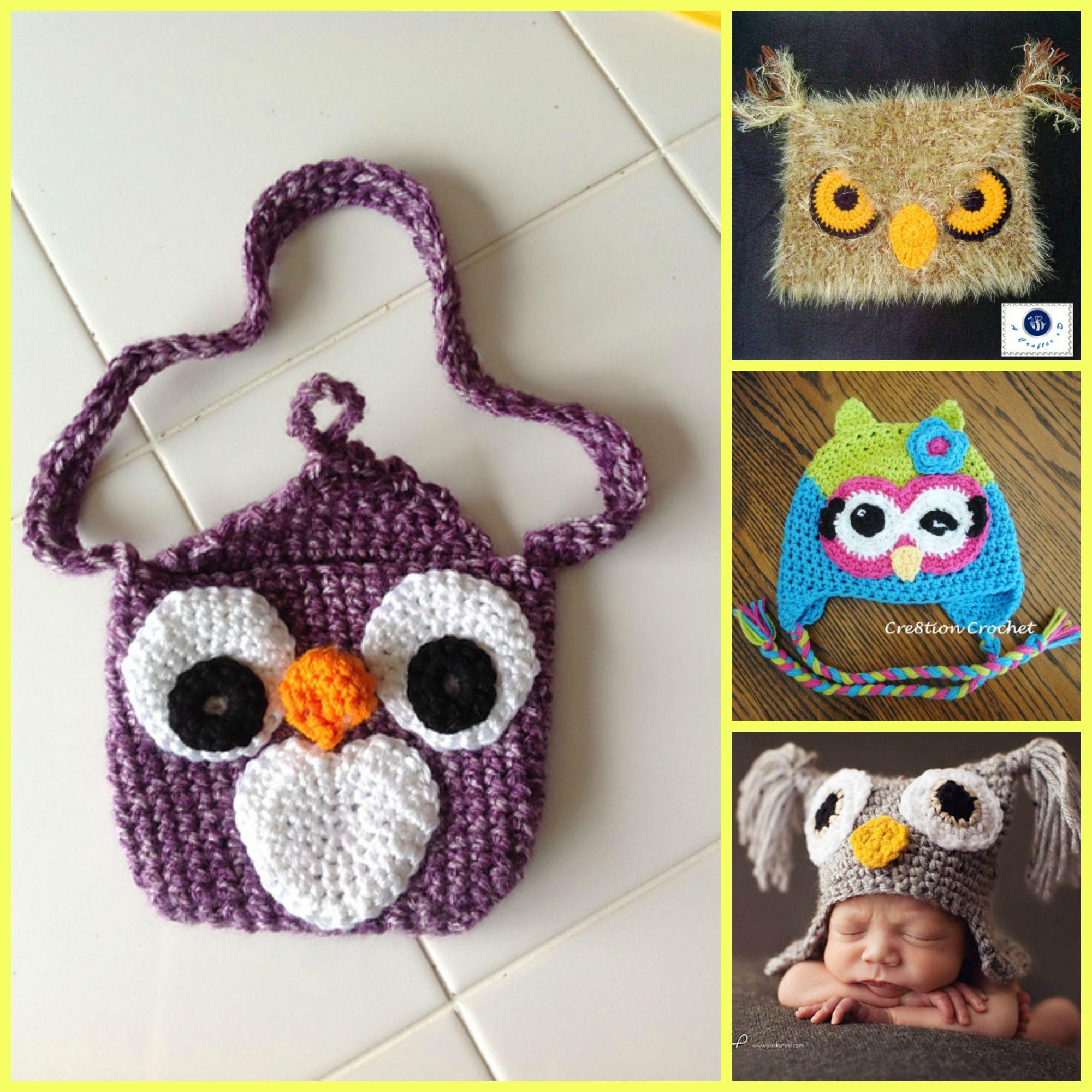 d929e73c183 Crochet Cute Owl Hats - Free Patterns  freecrochetpatterns  hat  owl