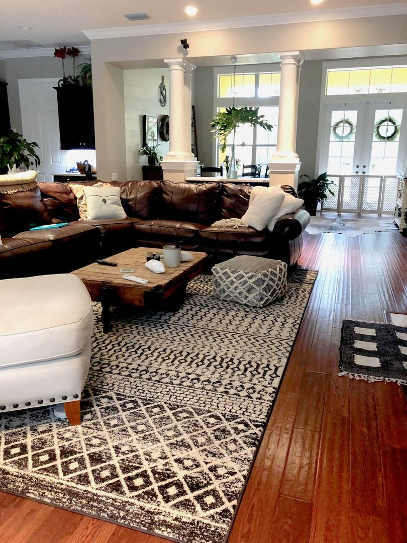 Decorating With Area Rugs On Hardwood Floors Contemporary Living
