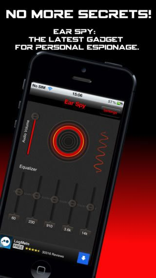 Ear Spy for iPhone. The Ultimate Eavesdropping App