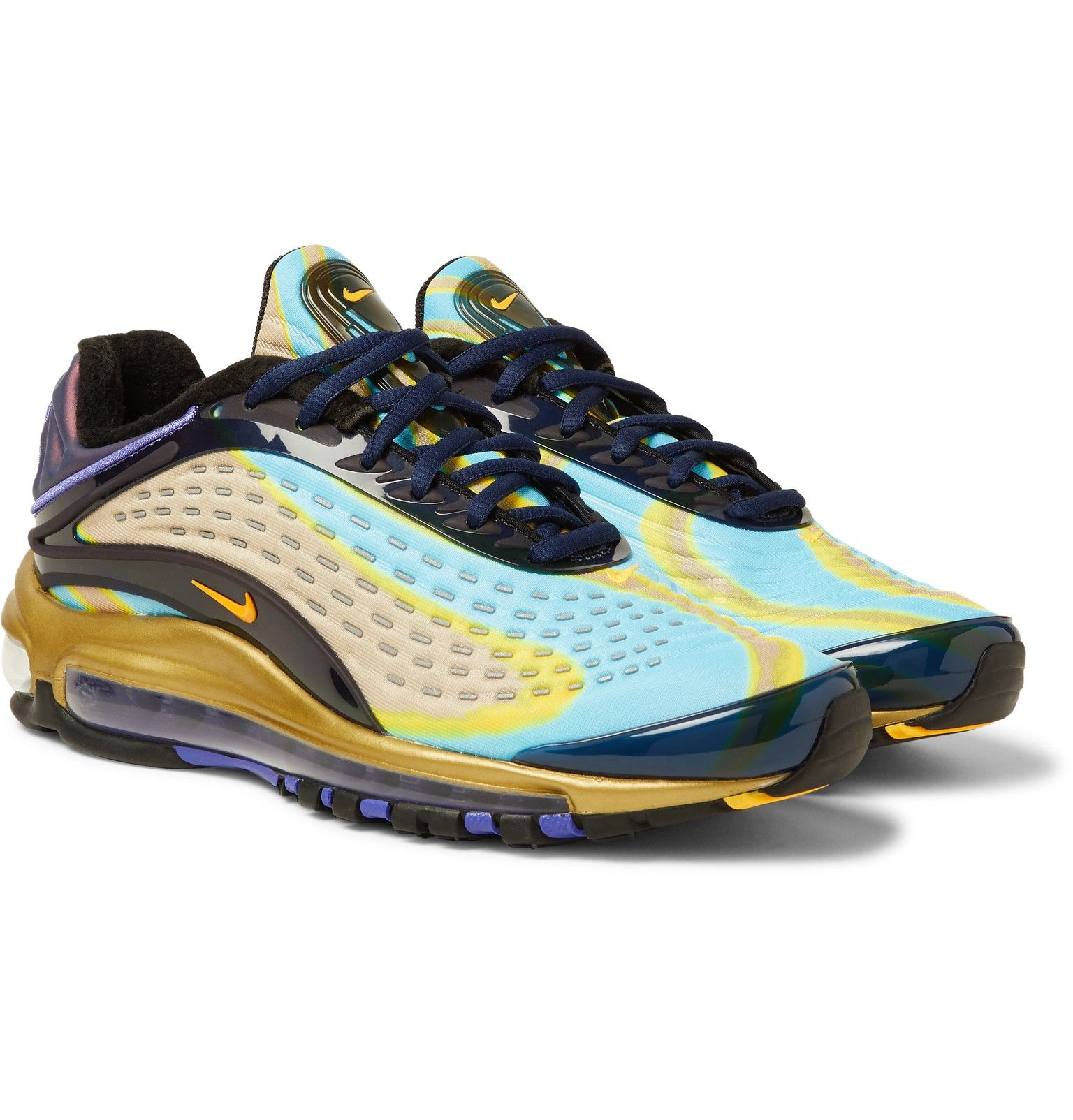 Nike Air Max Deluxe Rubber Trimmed Mesh Sneakers Sneakers Nike Air Max Sneakers Men