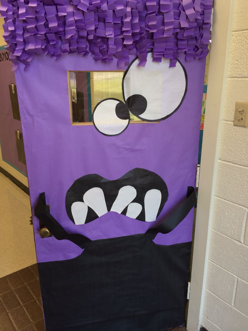 Despicable me themed classroom door Classroom ~ Halloween - Halloween Classroom Door Decorations