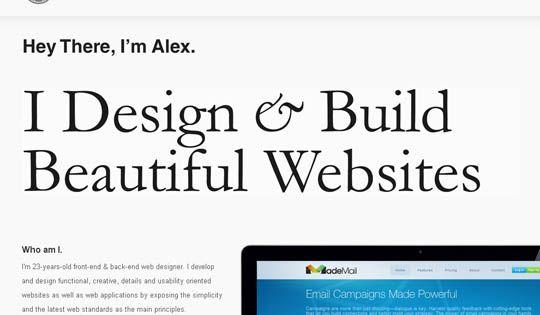 40 Inspirational Portfolio Introductions Of Designers And Developers Development Design Inspiration