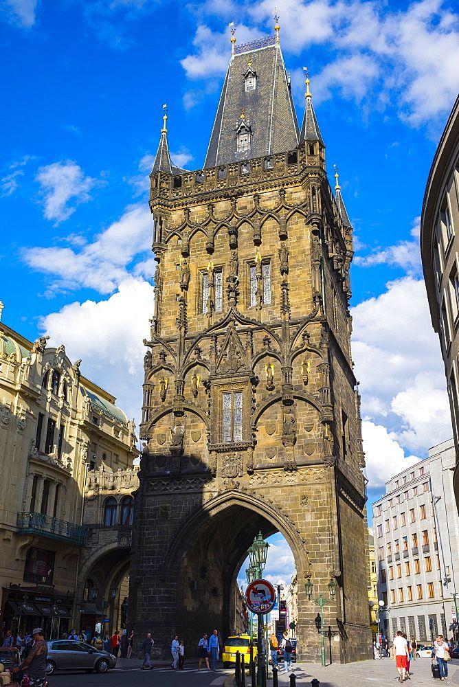 Prasna brana (Powder Gate) (Powder Tower), Stare Mesto (Old Town), Prague, Czech Republic, Europe