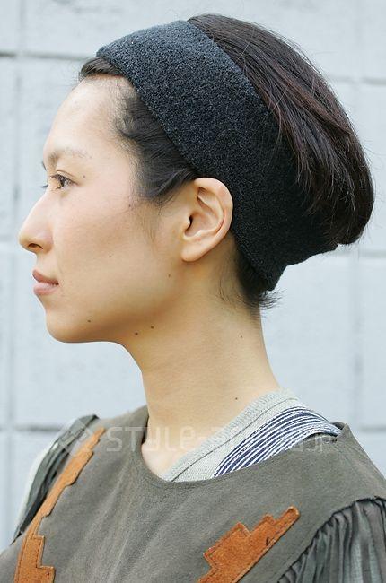 無印良品ヘアバンド 日本のストリートスタイル ストリートスタイル