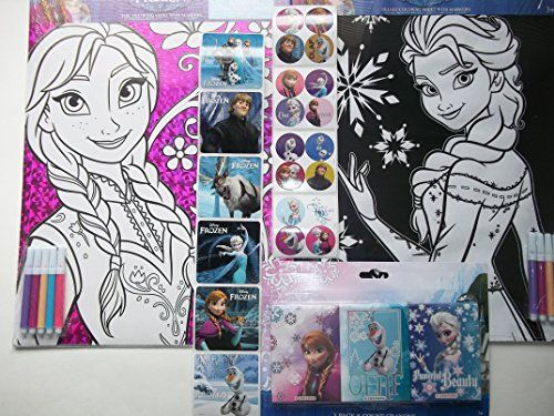 Disney Frozen Anna & Elsa Coloring Sheets with Markers + One Frozen Crayon Set-bundle of 3 Plus 2 Free Strips of Frozen Stickers Disney http://www.amazon.com/dp/B00QVZ3AKA/ref=cm_sw_r_pi_dp_r81Iub04E6ZXD