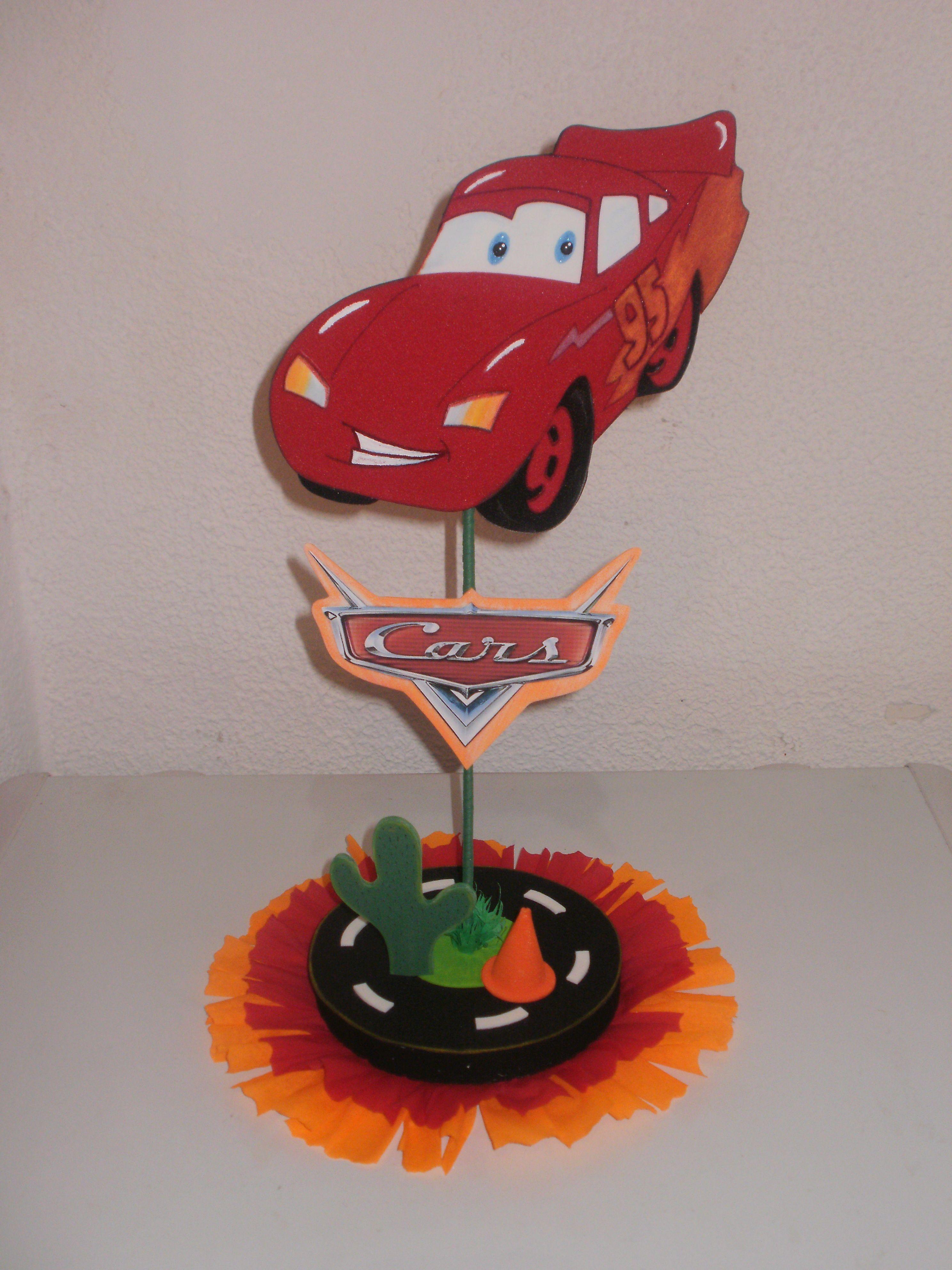 Cars Centro De Mesa Foami Manualidades Cars Birthday Candles Y