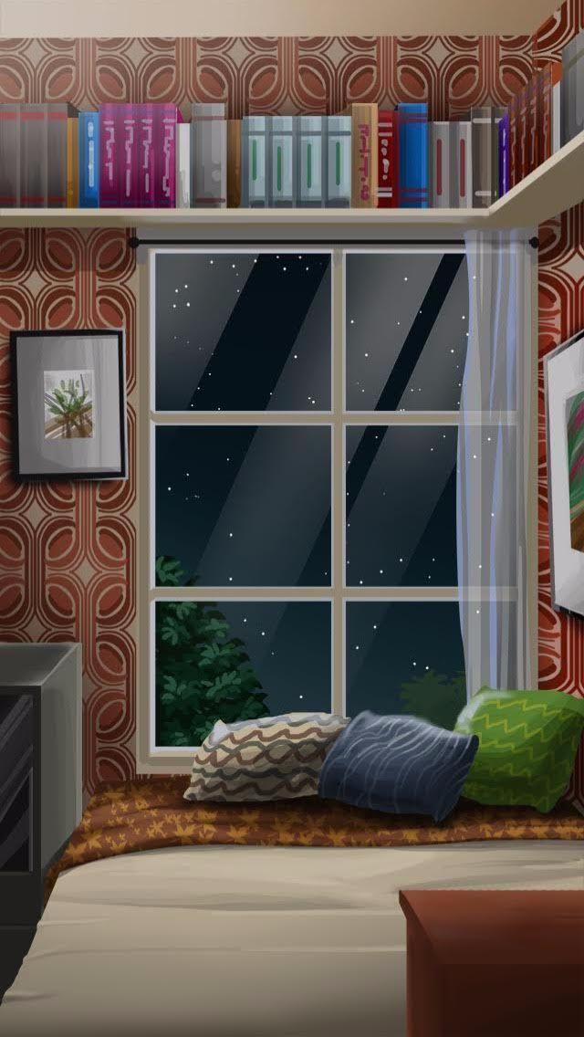Anime Backgrounds Bedroom Morning : anime, backgrounds, bedroom, morning, Anime, Background, Bedroom, Window