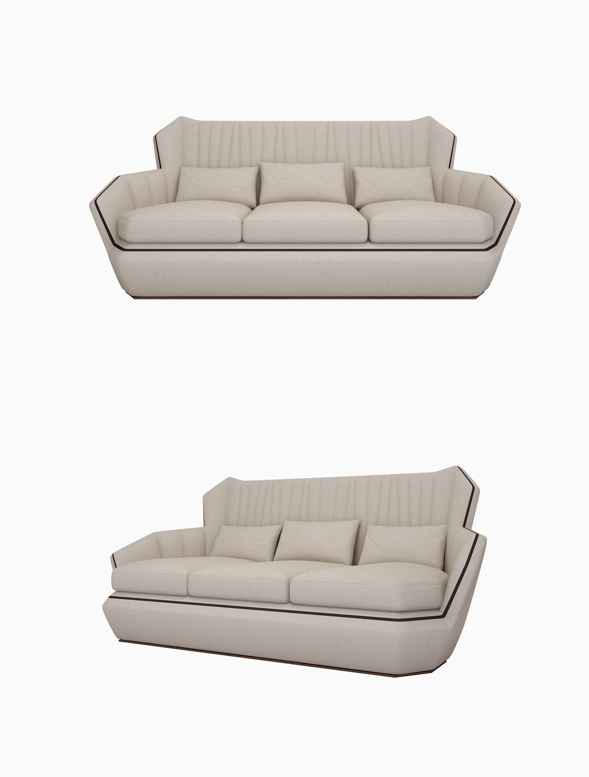 Modern Style Three Person Sofa White
