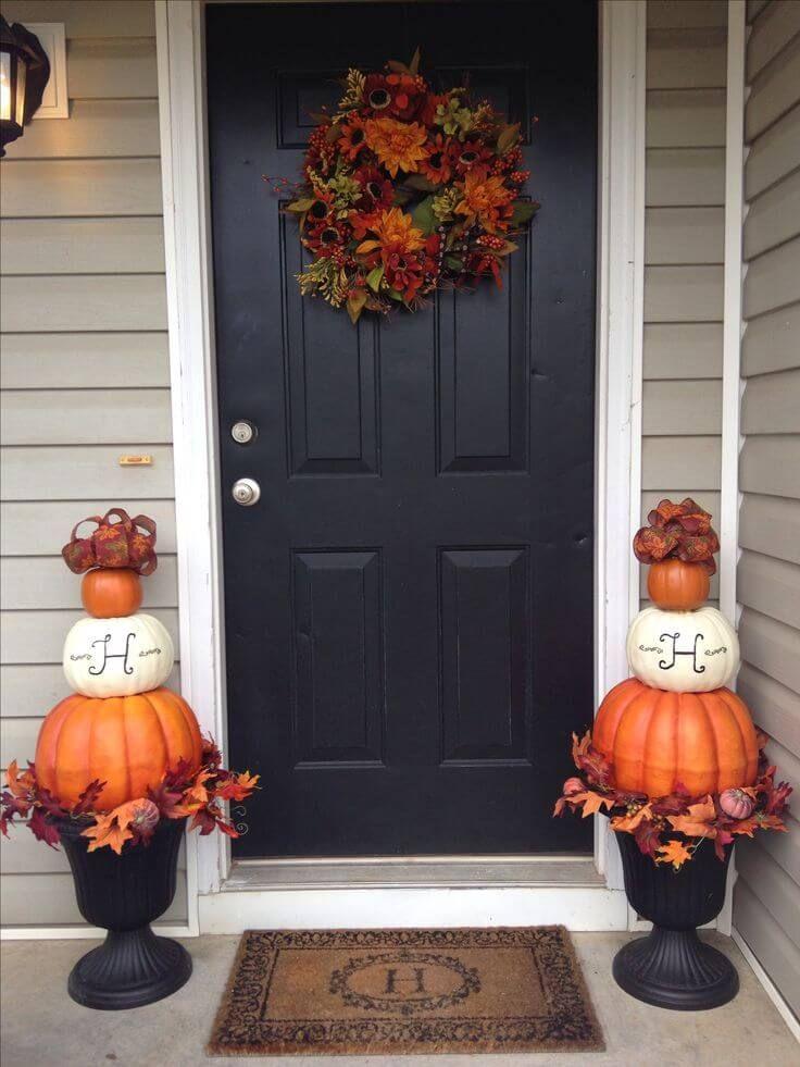 25 Adorable Fall Front Door Decor Ideas To Make A Fantastic First Impression Fall Decorations Porch Fall Decor Fall Decor Diy