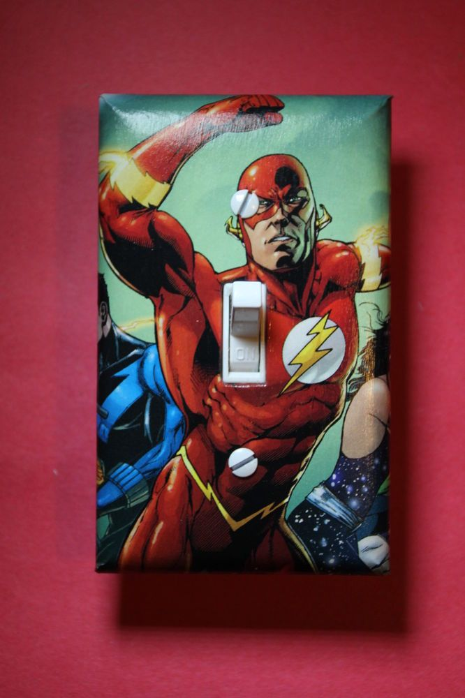 The Flash Light Switch Cover boys kids child room home decor man ...