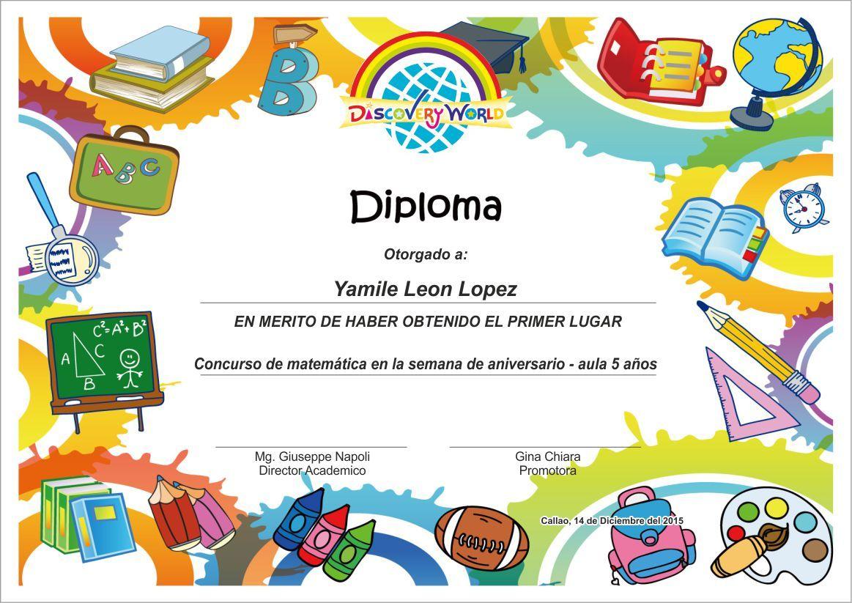 Pin By Ulises Gallegos On Disenos Preschool Diploma Graduation Certificate Template Preschool Certificates Preschool diplomas templates printable free