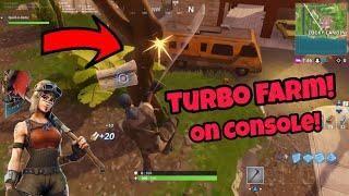 how to turbo farm on consoles working fortnite glitches season 5 ps4 xbox one 2018 - farm fortnite