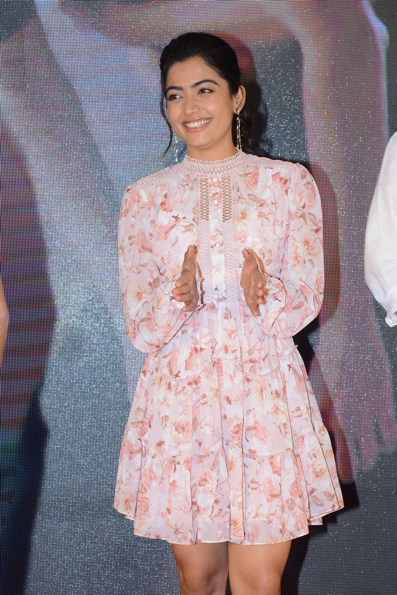 Rashmika Mandanna At Bheeshma Movie Success Meet In 2020 Short Dresses Long Sleeve Dress Fashion