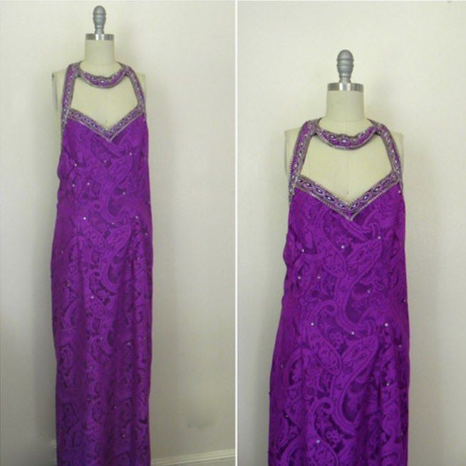 IN THE SHOP Vintage 1970s Purple Evening Beaded Sequined Gown(36/30) http://ift.tt/1lP6fC1