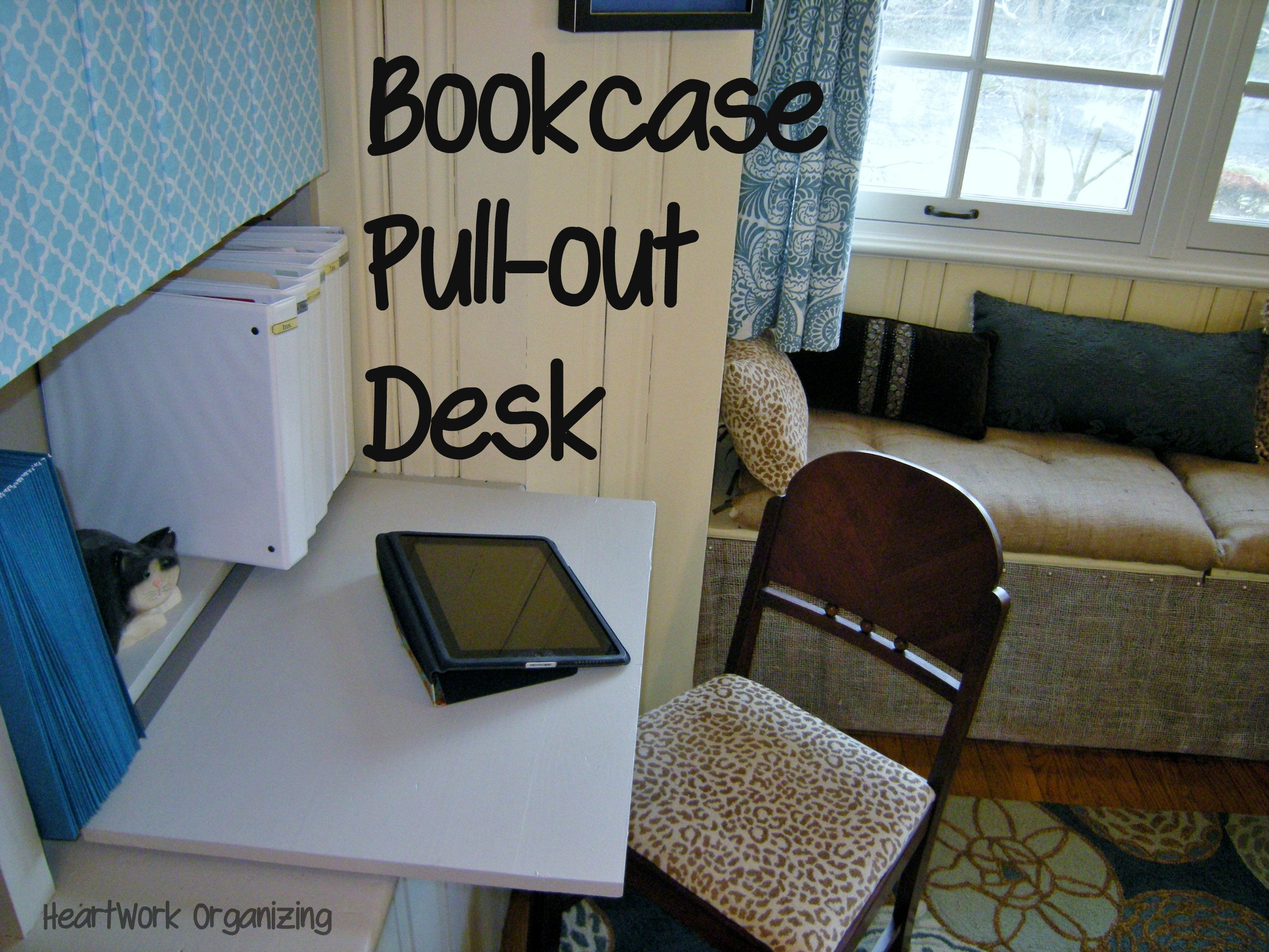 Bookcase Pull Out Desk