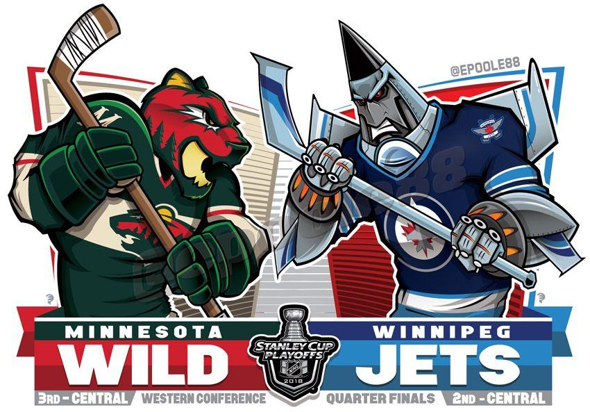 2018 West 1st Round Mnwild Vs Winnipegjets Nhlplayoffs Nhl