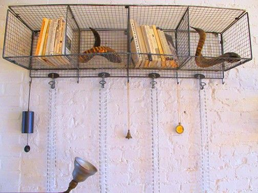 Large Wire Locker-Cube Wall Shelf | Cubby shelves, Shelves and ...