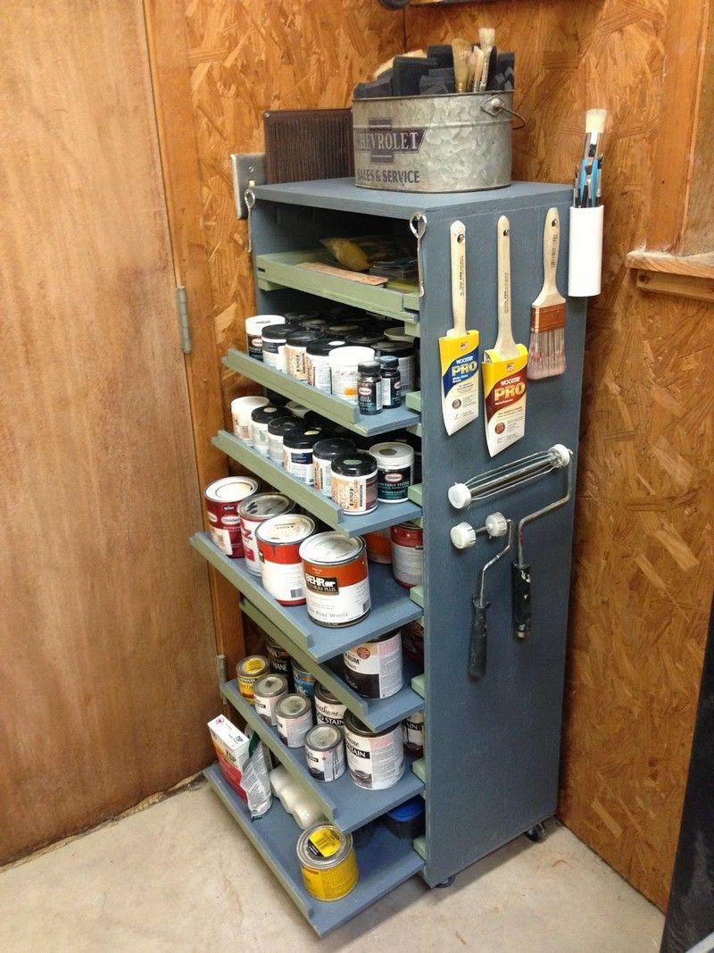 Diy Paint Storage Cabinet Paint Storage Storage Workshop Storage