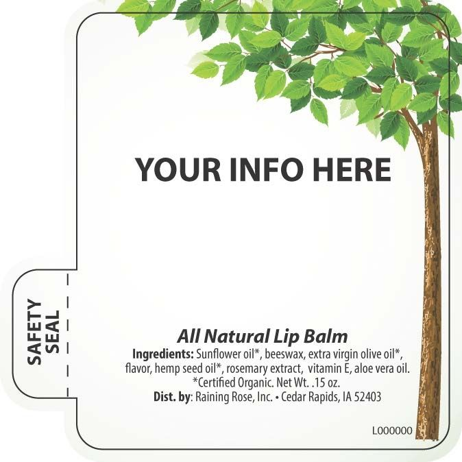 Current image inside printable lip balm label template