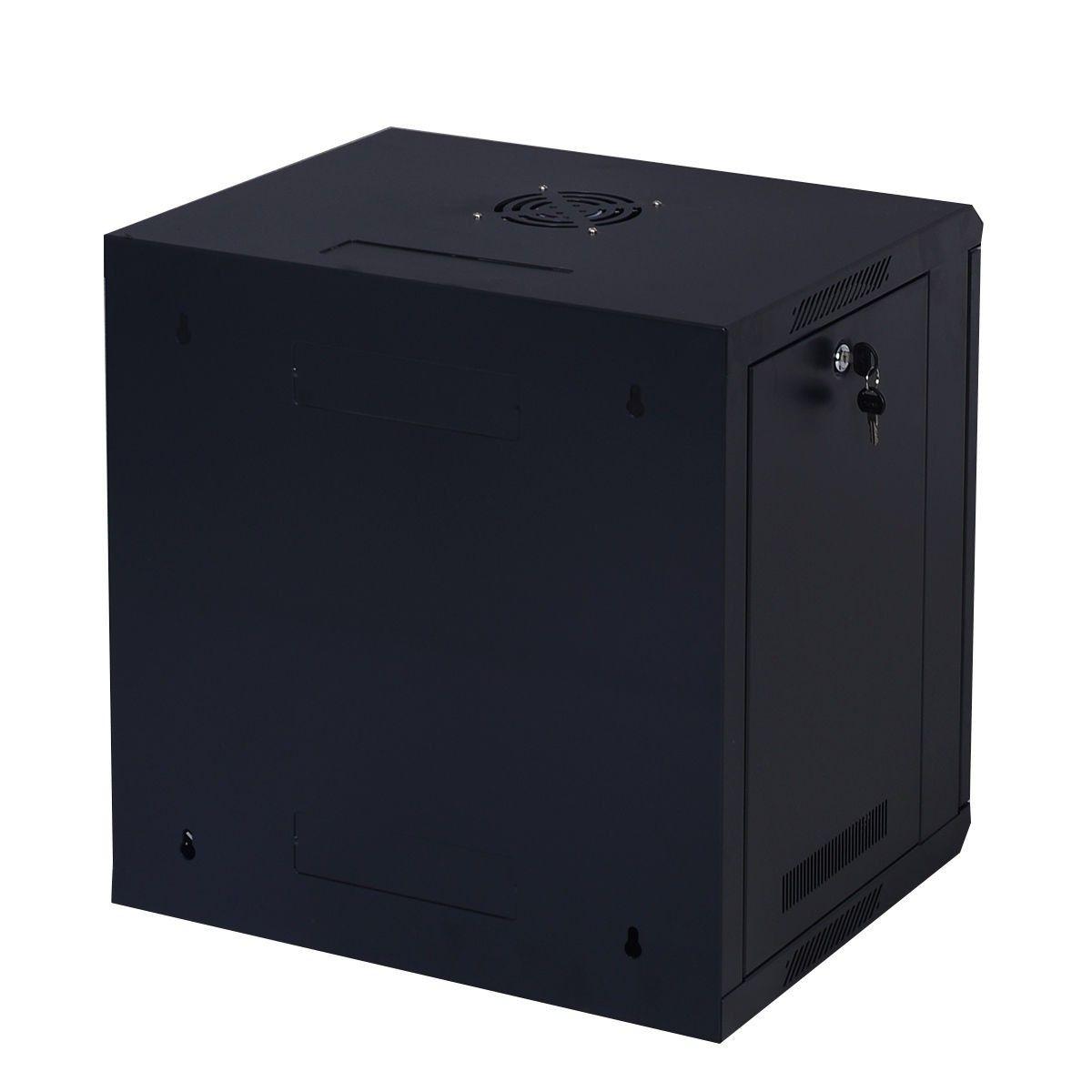 9u Wall Mount It Network Server Data Cabinet Enclosure Rack Glass Door Locking Data Cabinet Server Cabinet Locker Storage