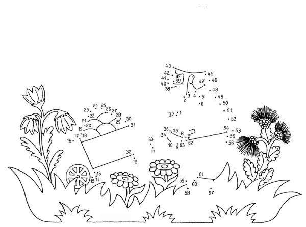 Dibujo De Unir Puntos De Un Carro Dibujo Para Colorear E Imprimir Dibujo De Jardin Jardin Infantil Dibujos