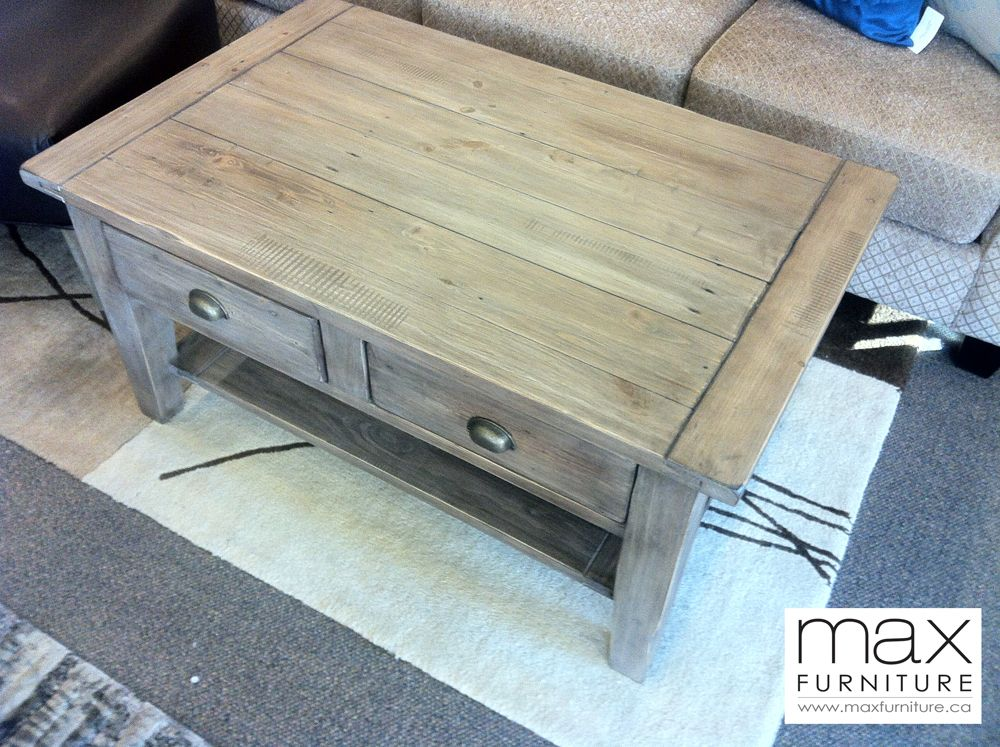 Irish Coast Coffee Table, Sundried Pine $495 CAD  Reclaimed Wood  Max Furniture  Victoria