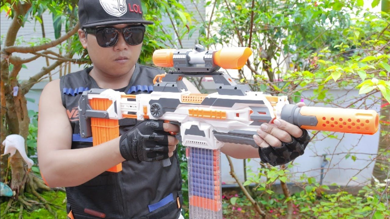 Nerf War : Action movie Police Nerf Gun vs Nerf Guns Crimes (First Perso.