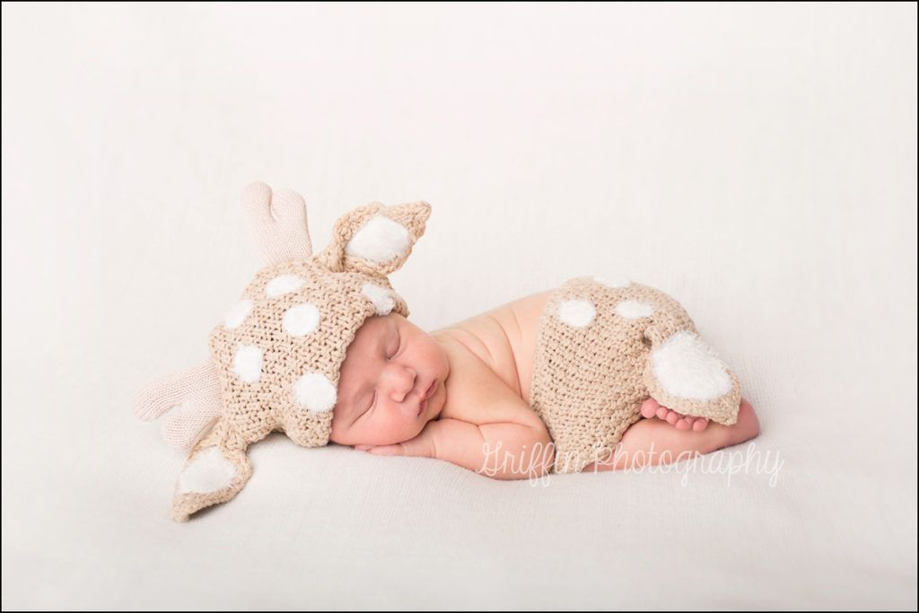 Baby deer newborn photographer virginia beach